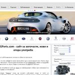 Проект за сайт за авточасти